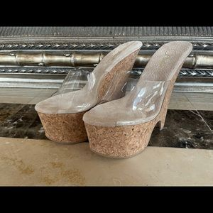 New Pleaser Wedges Size 8